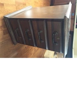File Cabinet Wood 2 dawers