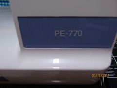 Brother PE770 Embroidery Machine only