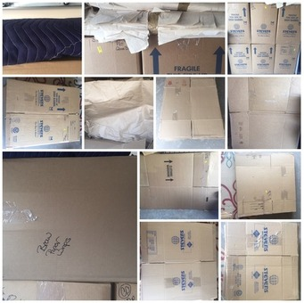 Boxes and packing paper